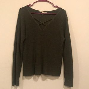 Olive Green Sweater from Francesca's